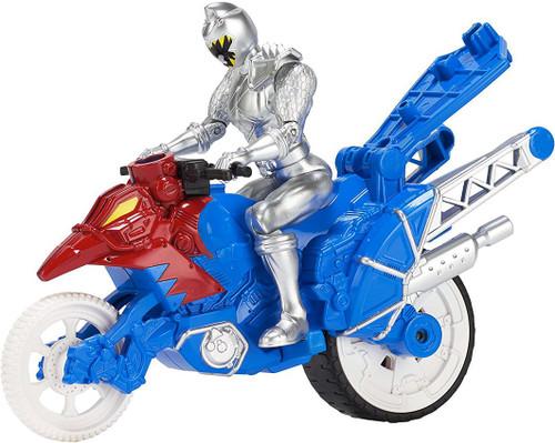 Power Rangers Dino Super Charge Zord Builder Dino Stunt Bike & Silver Ranger Action Figure Vehicle Set