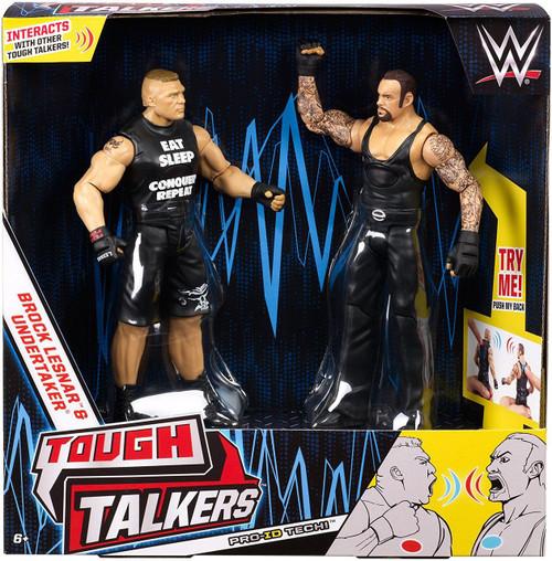 WWE Wrestling Battle Pack Tough Talkers Brock Lesnar & The Undertaker Action Figure 2-Pack