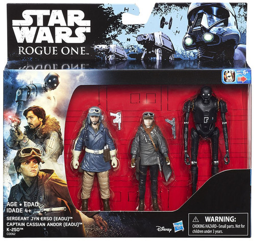 Star Wars Rogue One Cassian Andor, Jyn Erso & K-2SO Exclusive Action Figure 3-Pack