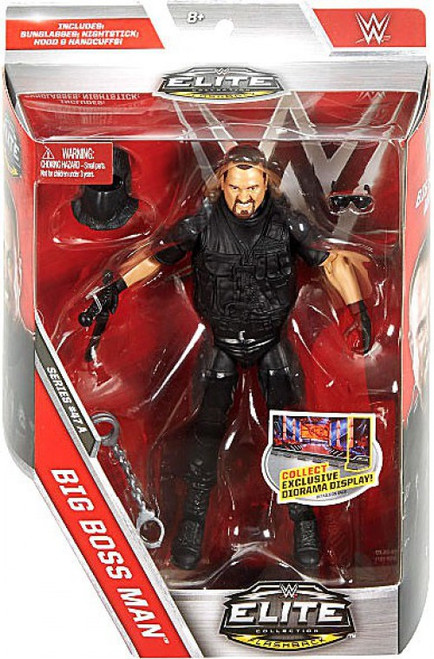 WWE Wrestling Elite Collection Series 47 Big Boss Man Action Figure [Sunglasses, Nightstick, Hood & Handcuffs]