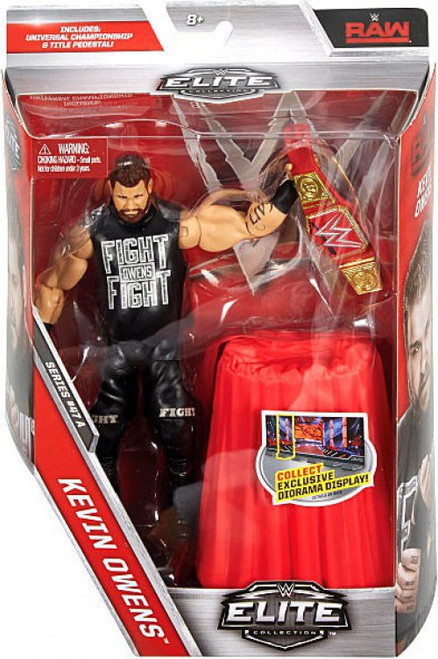 WWE Wrestling Elite Collection Series 47 Kevin Owens Action Figure [Universal Championship & Title Pedestal]