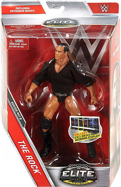 WWE Wrestling Elite Collection Series 47.5 The Rock Action Figure [Entrance Shirt]