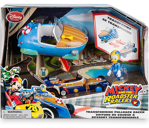 Disney Mickey & Roadster Racers Donald Duck Exclusive Transforming Pullback Racer