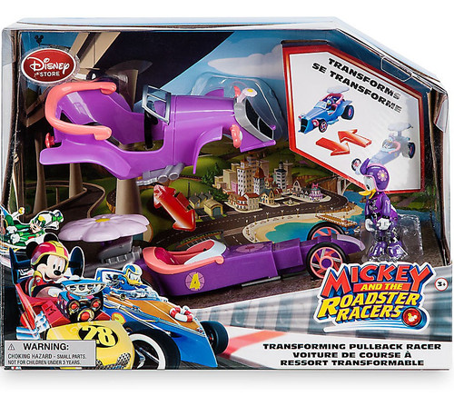Disney Mickey & Roadster Racers Daisy Duck Exclusive Transforming Pullback Racer
