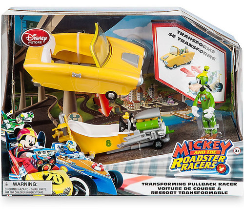 Disney Mickey & Roadster Racers Goofy Exclusive Transforming Pullback Racer