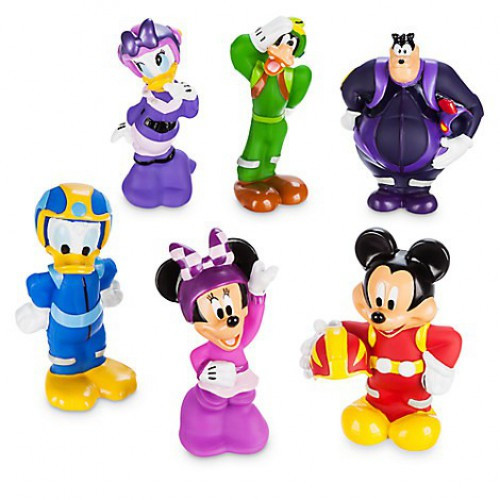 Disney Mickey & Roadster Racers 6 Piece Squeeze Toy Set