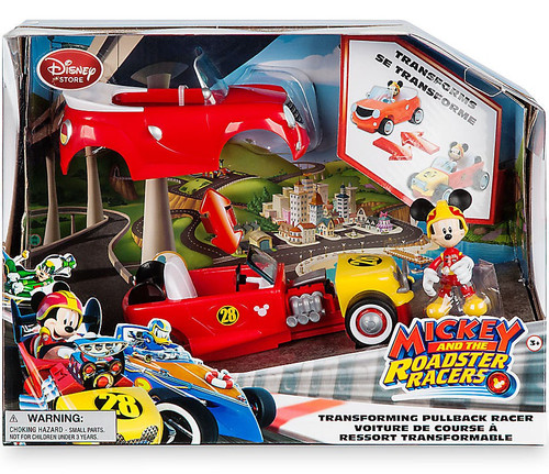 Disney Mickey & Roadster Racers Mickey Mouse Exclusive Transforming Pullback Racer