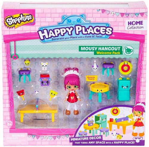 Shopkins Happy Places Series 2 Mousy Hangout Welcome Pack [Queenie Hearts]