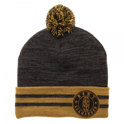 Harry Potter Fantastic Beasts and Where to Find Them Newt Scamander Pom Cuff Beanie Apparel