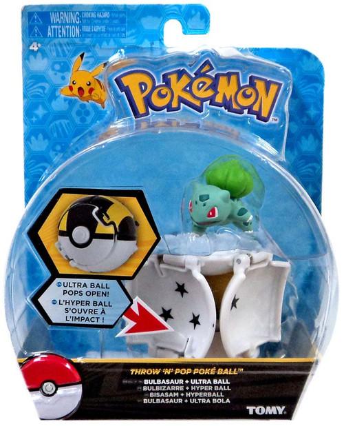 Pokemon Throw 'n' Pop Pokeball Bulbasaur & Ultra Ball Figure Set