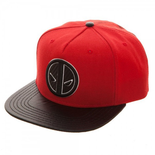 Marvel Deadpool Carbon Fiber Snapback Cap Apparel