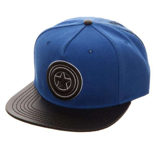 Marvel Captain America Carbon Fiber Snapback Cap Apparel