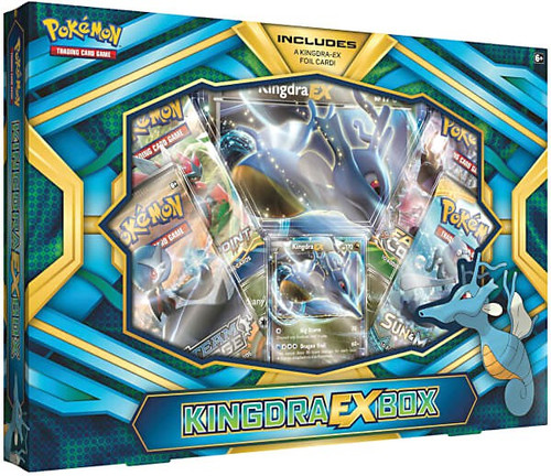 Pokemon Trading Card Game Kingdra EX Box [4 Booster Packs, Promo Card & Oversize Card!]