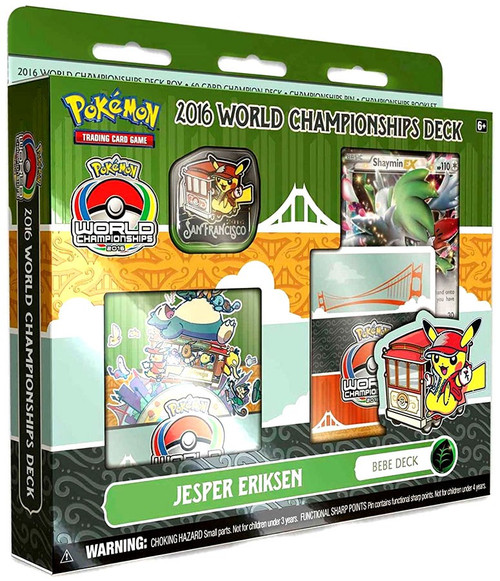 Pokemon Trading Card Game 2016 World Championships Jesper Eriksen's Bebe Deck Starter Deck