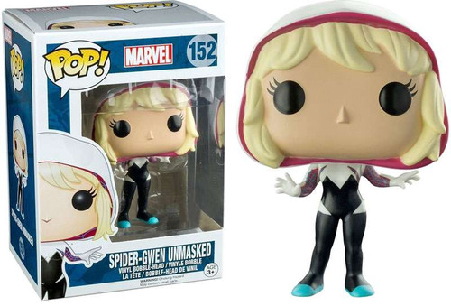 Funko POP! Marvel Spider-Gwen Exclusive Vinyl Bobble Head #152 [Unmasked]