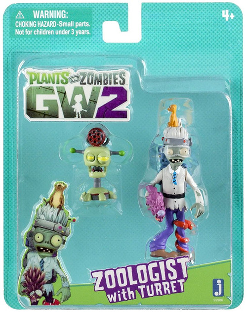 Plants vs. Zombies Garden Warfare 2 Zoologist with Turret Figure 2-Pack