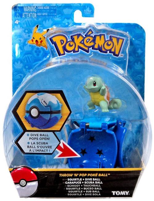 Pokemon Throw 'n' Pop Pokeball Squirtle & Dive Ball Figure Set