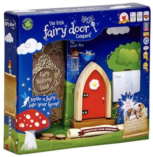 The Irish Fairy Door Company Red Arched Irish Fairy Door