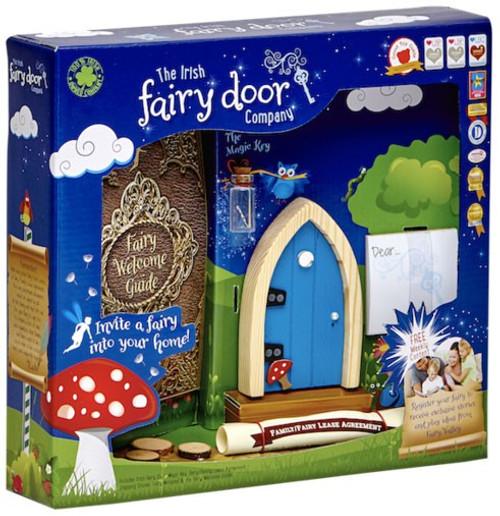 The Irish Fairy Door Company Blue Arched Irish Fairy Door