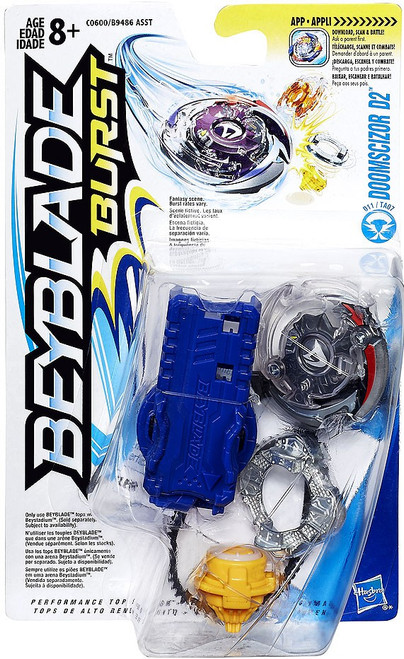 Beyblade Burst Color Tops Blue Wave Doomscizor D2 7-Inch Starter Pack