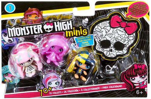 Monster High Minis Series 1 Ari Hauntington, Cleo & Rochelle Goyle Mini Figure 3-Pack