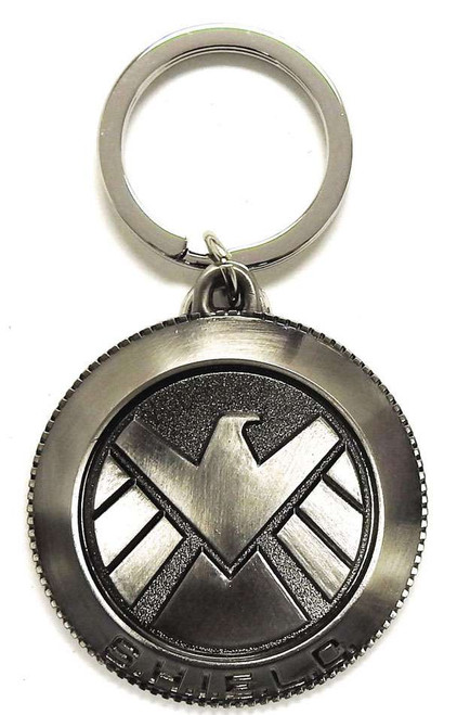 Marvel Avengers SHIELD Logo Pewter Key Ring