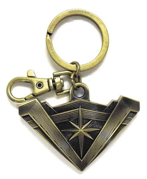 DC Batman V Superman Wonder Woman's Tiara Pewter Key Ring
