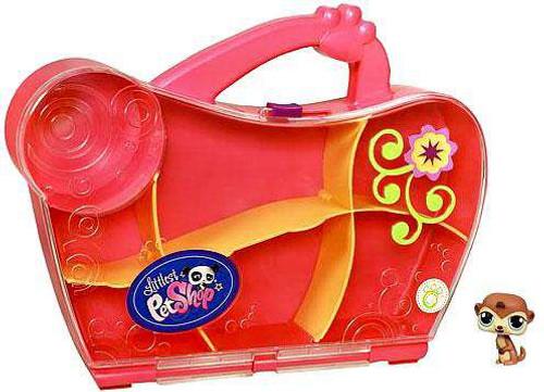 Littlest Pet Shop Pink Carry Case [Includes Meerkat Pet!]