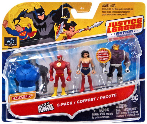 Justice League Action Mighty Minis Build Darkseid The Flash, Wonder Woman & Mongul Mini Figure 3-Pack