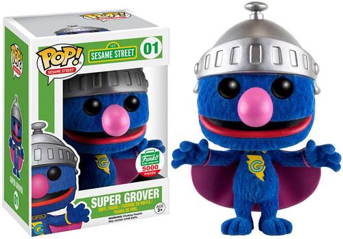 Funko Sesame Street POP! TV Super Grover Exclusive Vinyl Figure #01 [Flocked]
