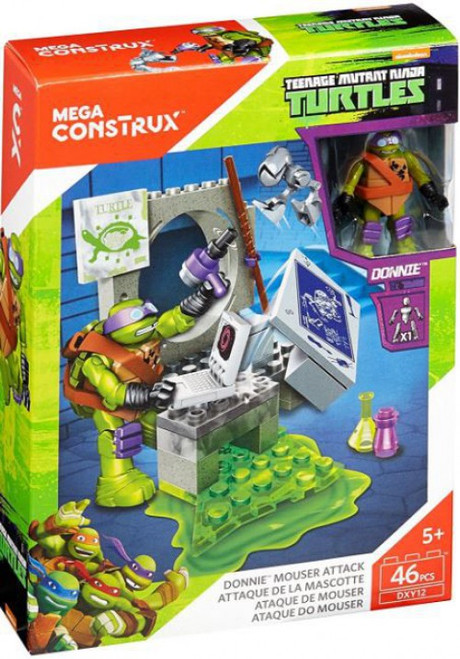Mega Construx Teenage Mutant Ninja Turtles Animation Donnie Mouser Attack Set