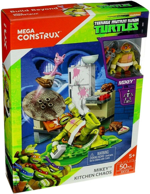 Mega Construx Teenage Mutant Ninja Turtles Animation Mikey Kitchen Chaos Set