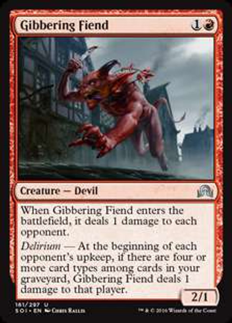 MtG Shadows Over Innistrad Uncommon Foil Gibbering Fiend #161