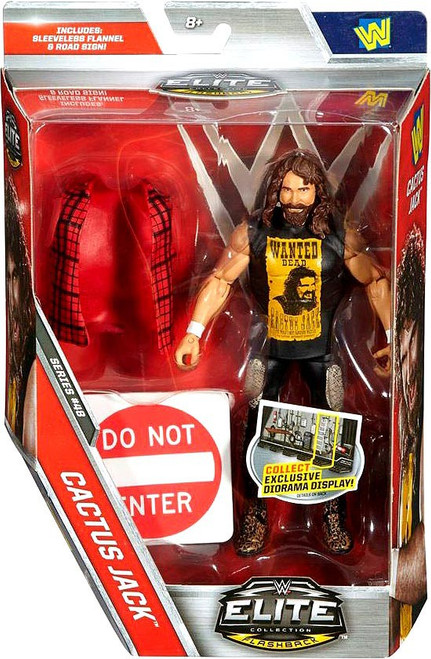 WWE Wrestling Elite Collection Series 48 Cactus Jack Action Figure [Sleeveless Flannel & Road Sign]