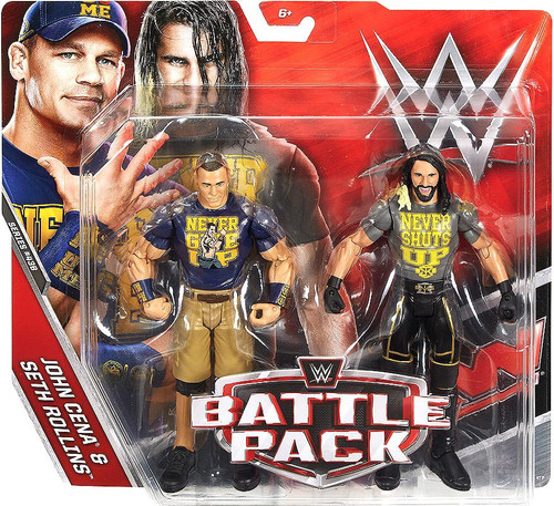 WWE Wrestling Battle Pack Series 43.5 John Cena & Seth Rollins Action Figure 2-Pack