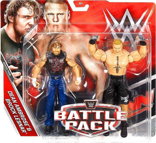 WWE Wrestling Battle Pack Series 43.5 Dean Ambrose & Brock Lesnar Action Figure 2-Pack