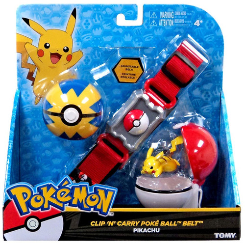 Pokemon Pikachu & Quick Ball Clip 'n' Carry Poke Ball Belt