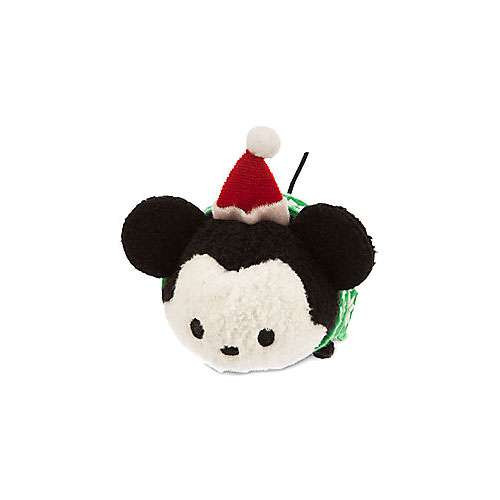 Disney Tsum Tsum Holiday Mickey Mouse 3.5-Inch Mini Plush [Green Scarf]