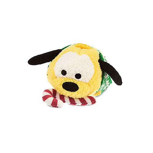 Disney Tsum Tsum Holiday Pluto 3.5-Inch Mini Plush [Green Scarf]