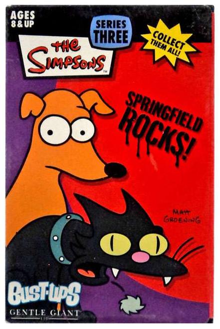 The Simpsons Springfield Rocks! Bust Ups Series 3 Snowflake & Santa's Little Helper Figure