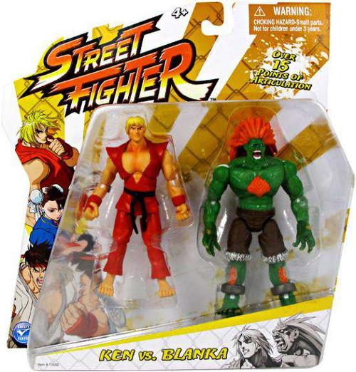 Street Fighter Classic Ken vs. Blanka Action Figure 2-Pack [Damaged Package]