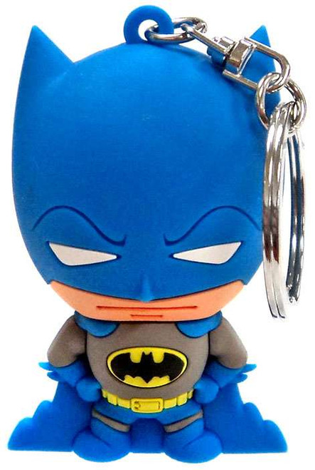 3D Figural Keychains DC Superpowers Batman Keychain [Blue & Grey Loose]