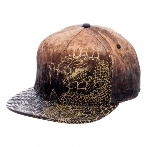 DC Suicide Squad Killer Croc Velvet / Leather Snapback Cap Apparel
