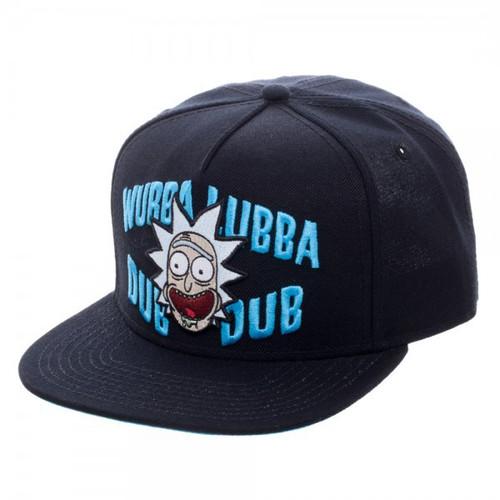 Rick & Morty Wubba Lubba Dub Dub Black Snapback Cap 10-Inch Apparel