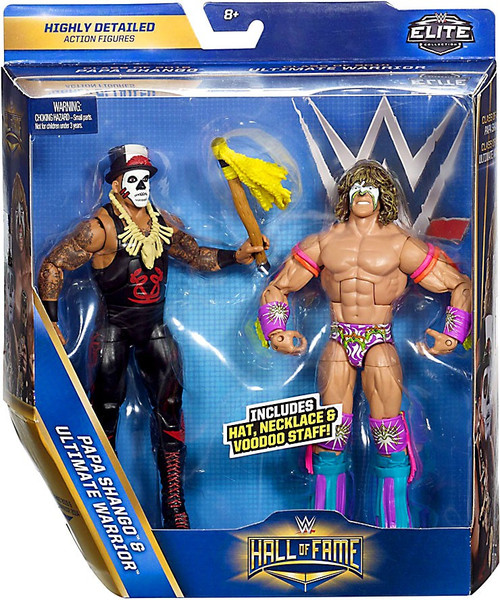 WWE Wrestling Battle Pack Hall of Fame Papa Shango & Ultimate Warrior Action Figure 2-Pack