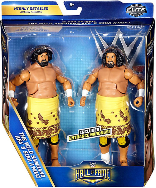 WWE Wrestling Battle Pack Hall of Fame Wild Samoans Action Figure 2-Pack [AFA & Sika A'Noai]