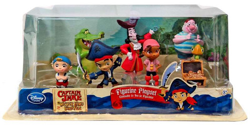 Disney Captain Jake and the Never Land Pirates 7 Piece PVC Figurine Playset [Version 2, Damaged Package]