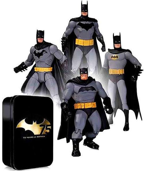 Batman 75th Anniversary Frank Miller, Greg Capullo, Alex Ross & Super Friends Action Figure 4-Pack [Damaged Package]