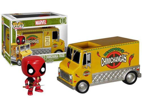 Funko POP! Marvel Deadpool's Chimichanga Truck Vinyl Bobble Head #10 [Yellow Truck (Removable Deadpool), Damaged Package]