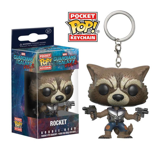 Funko Guardians of the Galaxy Vol. 2 POP! Marvel Rocket Keychain